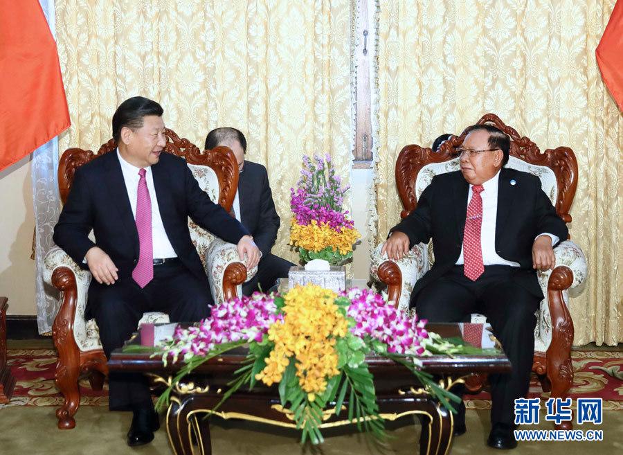 习近平同老挝人民革命党总书记会谈