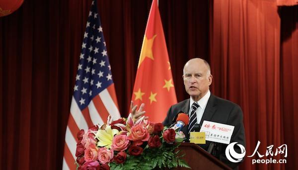 美国加州州长:加州愿竭力推动对华友好合作