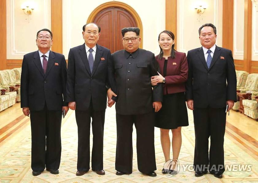 金正恩会见访韩代表团