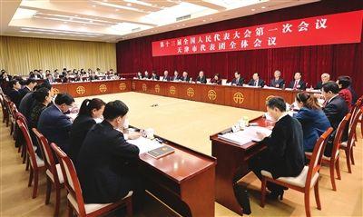 天津代表团举行全体会议审议政府工作报告