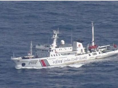 中国海警船今年第8次巡航钓鱼岛12海里 遭日船跟踪干扰