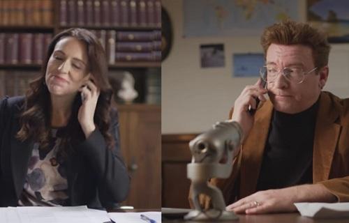 新西兰为拉游客出新花样 总理亲自出演搞笑短片