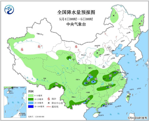 明起强降水将影响南方大部地区