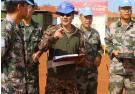 中国第八批赴南苏丹维和工兵分队通过装备核查