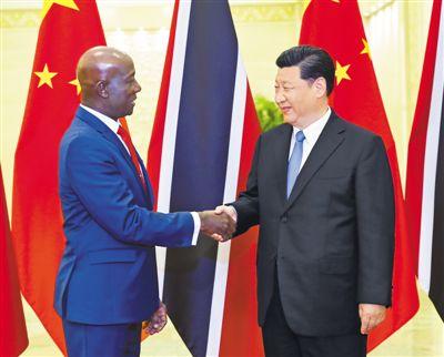 习近平会见特立尼达和多巴哥总理罗利