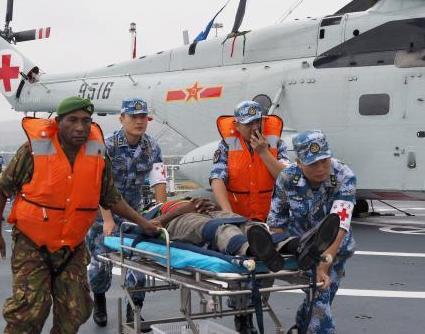 中国和巴布亚新几内亚举行联合应急医学救援演练