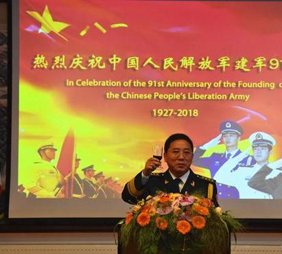 中国驻挪威大使馆举办庆祝建军91周年招待会