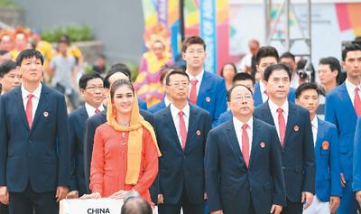 亚运会中国军团举行升旗仪式 赵帅将担任开幕式旗手