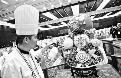 北京小吃端上中非论坛宴会餐桌