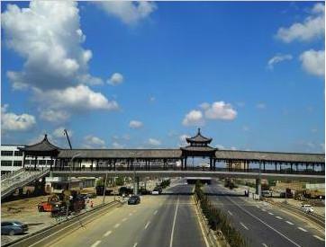 江苏扬州天空碧空如洗 蓝天白云美如画