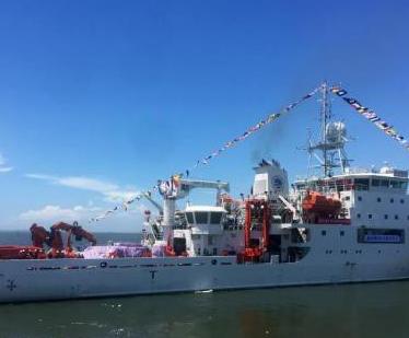 """中国""""向阳红03""""船在东太平洋合同区展开科学调查"""
