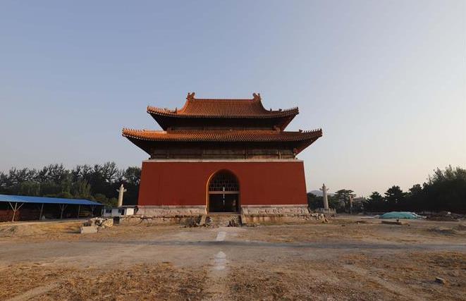 清东陵景陵大碑楼修复工作进展顺利
