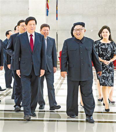 金正恩再次会见栗战书并为中国党政代表团举行欢迎活动