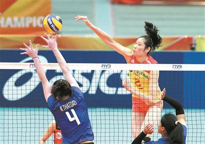 女排世锦赛复赛完胜泰国队 中国女排显亚洲霸主实力