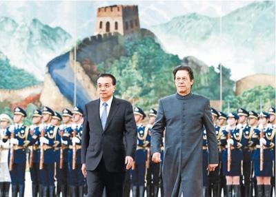 李克强同巴基斯坦总理伊姆兰·汗会谈