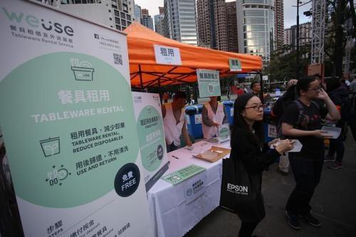 环保与商机同行 港人创业一年租出27万件可重用餐具