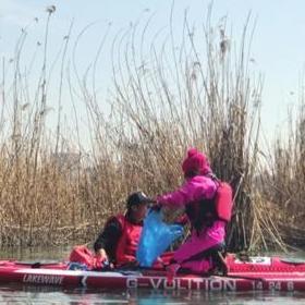 金鸡湖上来了环保卫士